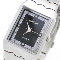 包邮正品威琴weiqin女士手表 方形镶钻手表女 商务女表 石英手表 价格:60.00