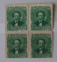 团购价3.5元洪都拉斯1893年总统像雕版邮票四方连新外国邮票批发 价格:3.50