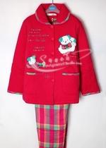 正品秋鹿女士睡衣家居服 冬季可爱长袖加厚夹棉纯棉套装 QIB2103 价格:320.00