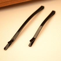 实用经典款简约时尚纯黑色金属喷漆一字夹横夹边夹发卡刘海夹发饰 价格:0.30