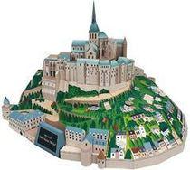 【淘纸阁】经典建筑-法国 蒙特塞拉特圣米歇尔山 3D纸模/纸模型 价格:9.00