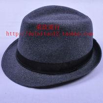 2013新品韩版男女春夏毛呢小礼帽平顶遮阳帽巴拿马时装帽子爵士帽 价格:11.88