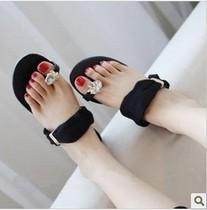 2013新款夏季套趾水钻平底凉拖鞋女韩版平底凉鞋女潮款 价格:6.32