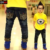 儿童牛仔裤小贝潮品童装男童冬装2013加厚长裤棉裤韩版裤子K13192 价格:62.30