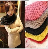 韩版百搭 仿羊绒加厚粗毛线两圈围脖 玉米围脖 围巾 价格:9.80