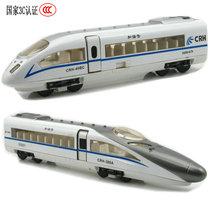 合金车模 和谐号动车模型 中国高铁CRH火车头 声光回力 火车玩具 价格:28.00