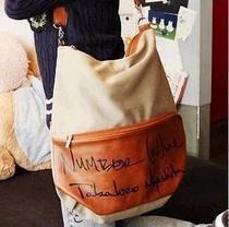 韩版帆布包 女式包包 字母单肩手提斜挎包双肩背包学生可爱书包 价格:22.00