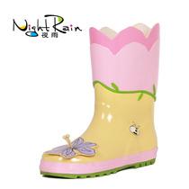 夜雨时尚花仙子儿童雨鞋 女童雨靴套鞋水靴水鞋胶鞋正品童鞋包邮 价格:75.00