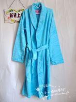 外贸原单La Senza秋冬吸湿珊瑚绒男女长款浴袍睡袍浴衣睡袍女睡衣 价格:78.00