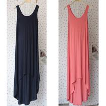 两件包邮秋装新款 裙子 波西米亚莫代尔 背心连衣裙燕尾无袖 长裙 价格:28.00