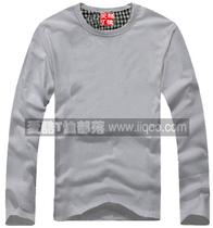 爱酷T恤部落长袖T恤打底衫空白T恤灰色三件包邮圆领短袖直身 价格:40.00