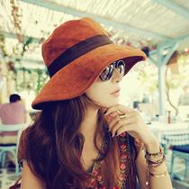 防紫外线大沿遮阳帽子潮女士夏天韩版沙滩帽渔夫帽户外防晒太阳帽 价格:29.00