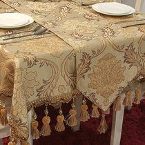 都莱 欧式奢华高档雪尼尔绒金边吊穗 餐桌旗桌布台布盖布茶几巾 价格:155.80
