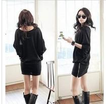 11.11 309 依依情●2012新款 新女人宽松蝙蝠袖拉链包臂连衣裙 价格:26.00