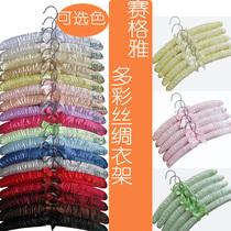 赛格雅-包布衣架 成人丝绸布艺衣架 衣服撑衣服挂 可旋转 多色 价格:8.55