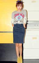 韩国代购官网正品stylenanda欧美复古高腰牛仔半身裙韩版包臀中裙 价格:240.00
