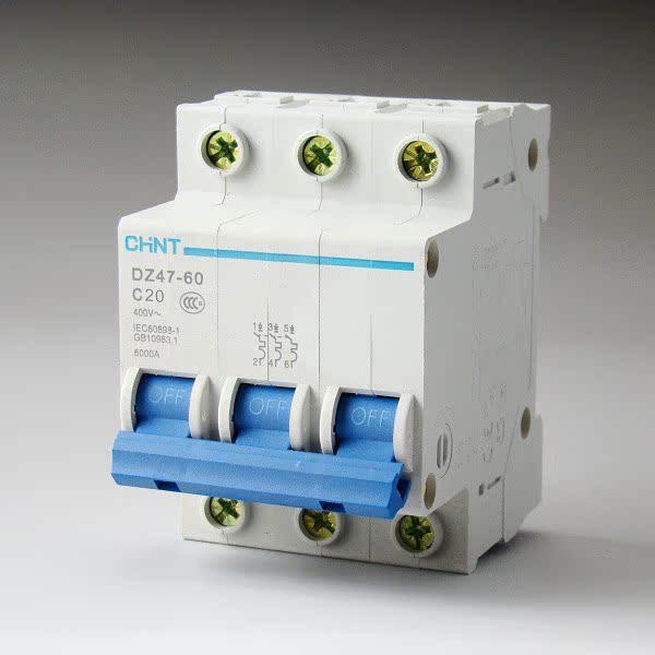 正泰 断路器 DZ47 3P 20A 低压断路器 C20 家用空气开关 全场正品 价格:24.30