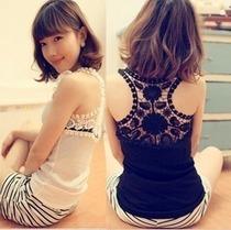 夏季韩国蕾丝女士吊带背心新款女工字打底背心紧身显瘦短款打底衫 价格:25.00