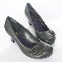 2012新款暇步士HushPuppies牛皮 女单鞋 浅口中跟女鞋 价格:226.00