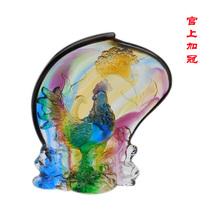 琉璃摆件装饰官上加冠 琉璃工艺品客厅摆设 商务礼品生日礼物批发 价格:588.00