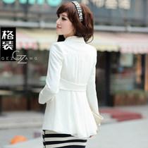 格装2013春装新款OL韩版气质小西服 修身百搭中长款小西装外套女 价格:139.00