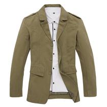 林森尼迪 薄西装男休闲西服男士外套修身纯棉休闲小西装大码 价格:178.00