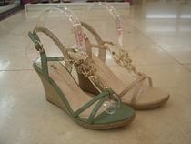 专柜正品 他她2013夏季新款2MI10 坡跟水钻女鞋牛皮舒适 凉鞋 女 价格:238.00