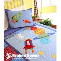 尾单绗缝儿童被儿童床全棉两件套空调被床盖床单枕套星系21省包邮 价格:279.00