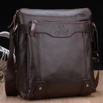 2013新款金利来男包男士商务单肩包斜挎手提包真皮14寸电脑包男款 价格:218.00