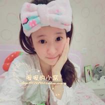 【包邮送礼物】日本萌小象珊瑚绒洗脸化妆美容面膜用束发带包头巾 价格:23.90