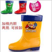 2013新款韩版儿童雨鞋高筒防水雨靴防滑保暖棉内胆可脱卸批发包邮 价格:64.00