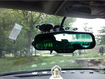多功能电子防眩目后视镜 带时间时钟电压车内外温度 雪铁龙C5/S2 价格:450.00