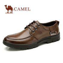 秋季骆驼正品新款皮鞋真皮韩版休闲男鞋系带男板鞋低帮鞋商务皮鞋 价格:188.00