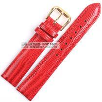 漆皮真皮表带 GUESS 真皮手表带 大红色亮光表带 玛丽莎女装表带 价格:39.00