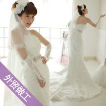【冲冠包邮】2013新款vera wang复古不规则镶钻鱼尾小拖尾婚纱#8 价格:799.00