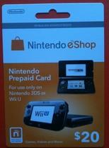 自动发送3DS wii U 美版任天堂WiiU 3DS eshop 20美元充值卡点卡 价格:122.00