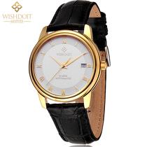 瑞士原装ETA机芯正品牌手表  防水全自动机械男表 土豪金表皮带 价格:1680.00