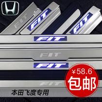 本田飞度迎宾踏板飞度门槛条原车款飞度改装专用LED带灯Honda Fit 价格:58.60