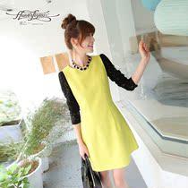 润乙一2013秋装新款韩版 无袖背心A字裙子 女士短连衣裙RY13C345 价格:208.00