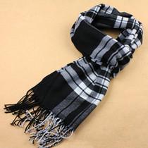 2013新款男士围巾男韩版潮保暖围脖冬季英伦格子流苏加厚仿羊绒 价格:25.50