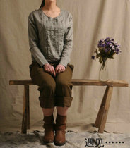 遇见……EOOE NOON 一诺专柜正品 100%棉质 E8A1038 百搭衬衫 价格:65.00