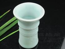 龙泉竹节香道瓶 香勺 香铲 灰压 银叶镊 侧平压 香道工具插瓶 价格:65.00