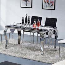 顺德家具正品 简约不锈钢餐桌 玻璃餐桌 大理石餐桌 餐桌椅组合 价格:988.00