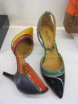 真美诗 13年 黄色胎牛漆拼色皮女皮凉鞋JPZUK05 ZUK05 UK05 价格:655.00