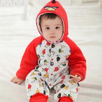 特价包邮婴儿连体衣秋冬哈衣0-1岁冬装宝宝衣服 冬装新生儿服装 价格:48.00
