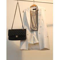053067秋装新款2013女装欧美风双排扣中长款修身西装外套无袖马夹 价格:56.00