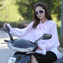 防晒披肩骑车夏长袖雪纺女开车摩托车电动车防晒衣服大码披风百搭 价格:29.00