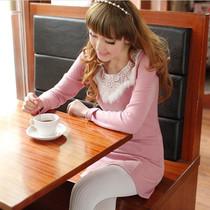2013新品秋装女装OL长袖包臀打底裙 韩版甜美修身淑女针织连衣裙 价格:49.70