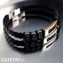 古丁Gotin 男人野性不退色钛钢时尚潮人手饰品 简约男式男士手环 价格:88.00