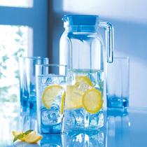 【包邮】弓箭 乐美雅 直身壶冰蓝水具套装 冷水壶 水杯 5件套 价格:68.00